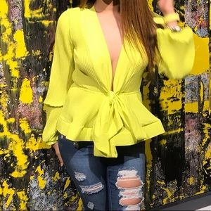 Neon Yellow Blouse.